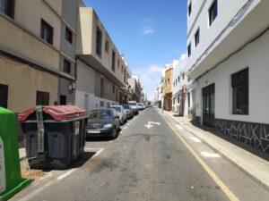 Vías secundarias. Espacio Público en Puerto del Rosario (Fuerteventura).