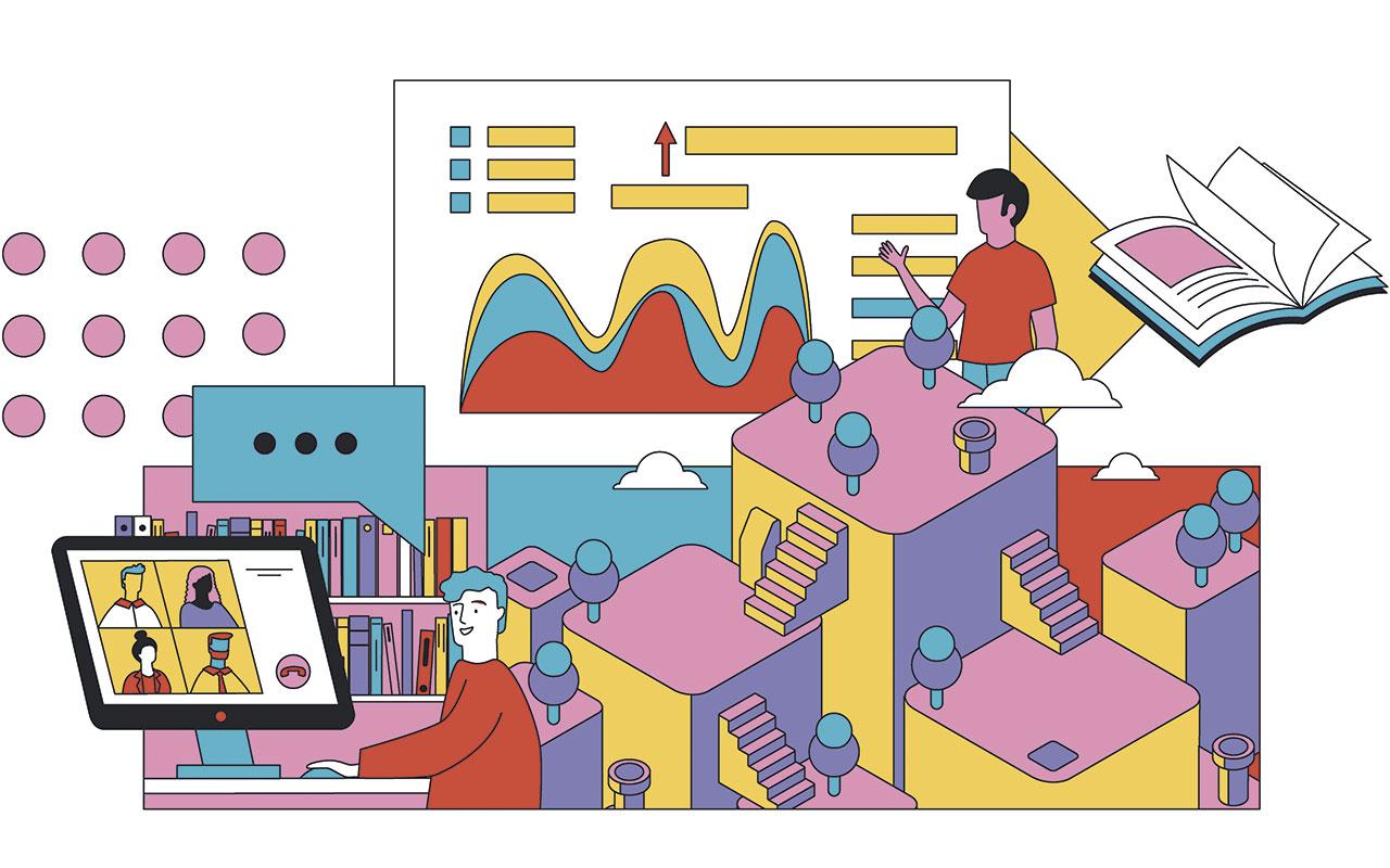 """Ilustración curso """"Cómo crear un laboratorio ciudadano"""""""