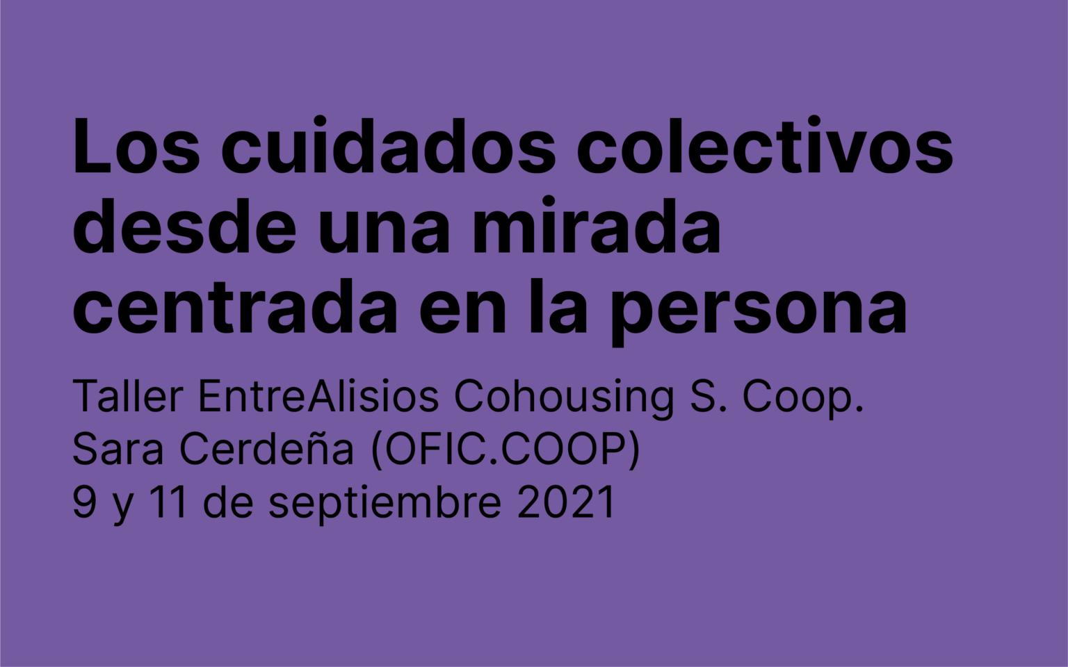 Taller de cuidados – Cohousing EntreAlisios