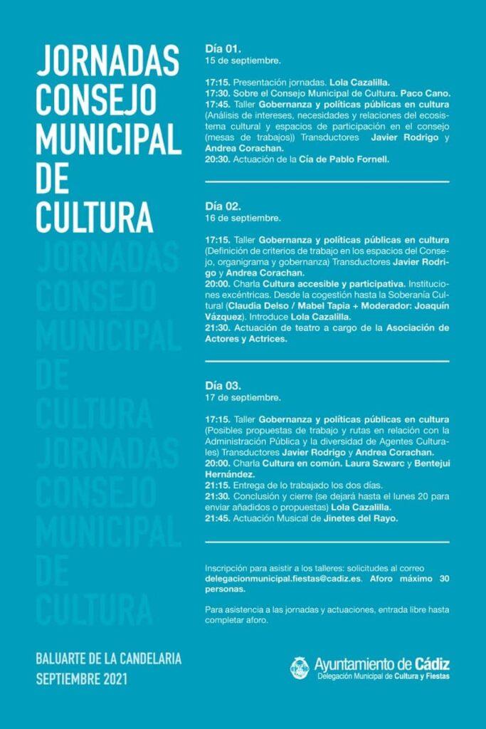 Cartel Jornadas Consejo Municipal de Cádiz