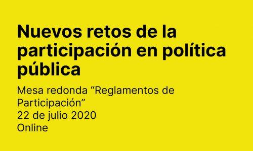 Nuevos retos de la participación en política pública